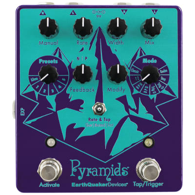 EarthQuaker Pyramids Stereo Flanging Device Effects Pedal