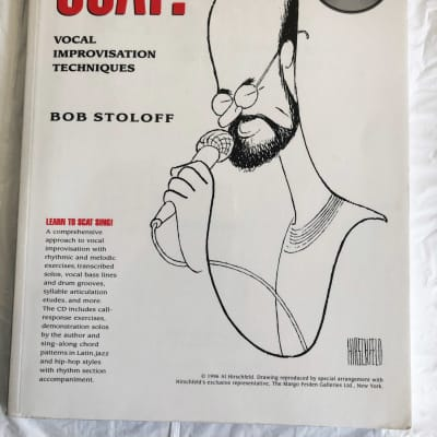 Scat! Vocal Improvisation Techniques by Bob Stoloff Music Book with CD