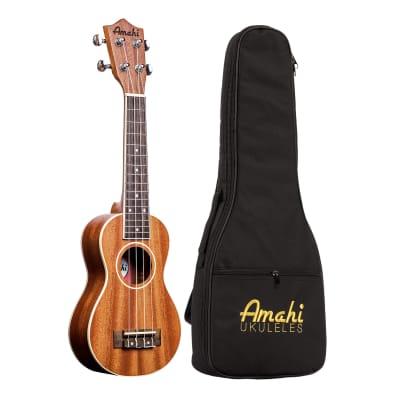 Amahi UK217 Mahogany Series Ukulele With Bag - Peanut