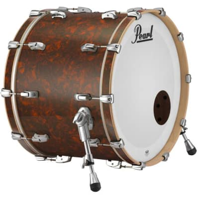 "Pearl Music City Custom 24""x14"" Reference Series Bass Drum w/o BB3 Mount RF2414BX - Burnt Orange Abalone"