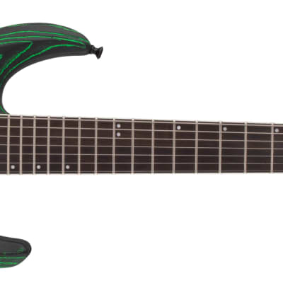 Jackson Pro Series Dinky DK2 Modern Ash FR7, Ebony Fingerboard, Baked Green for sale