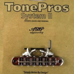 TonePros T3BP-N Standard Locking Tune-O-Matic Bridge with Notched Saddles