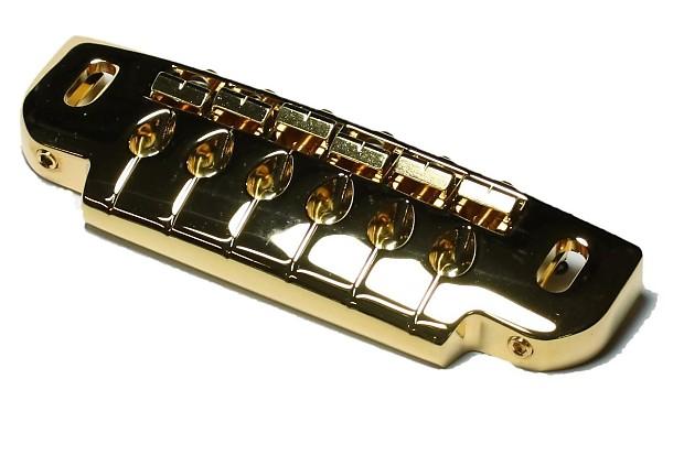 gotoh 510ub wraparound guitar bridge and tailpiece gold with reverb. Black Bedroom Furniture Sets. Home Design Ideas