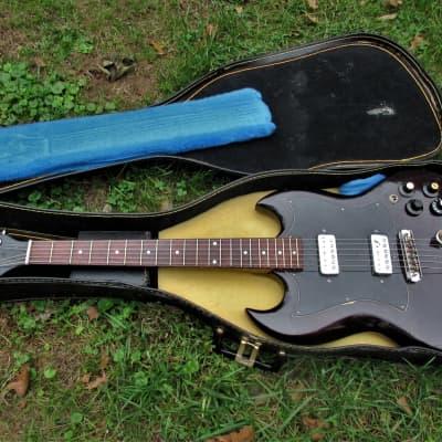 Strad-O-Lin SG Copy Guitar, Early 1970's, Korea,  Dark Cherry, Case, Fresh Setup for sale