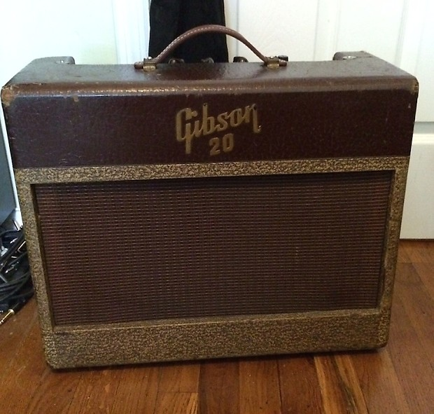 1955 gibson ga 20 tweed tube amp vintage guitar amplifier reverb. Black Bedroom Furniture Sets. Home Design Ideas