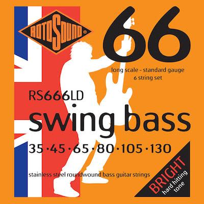 Rotosound Swing Bass Strings 66 (6 String Set) RS666LD 35 - 130