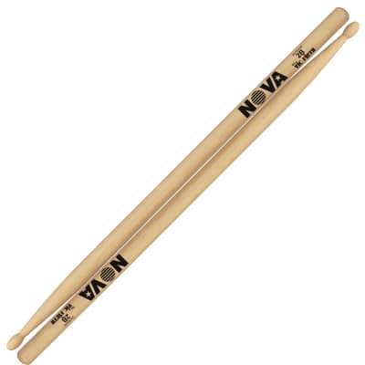 Vic Firth Nova Series 2B Hickory Wood-Tip Drum Sticks, Pair