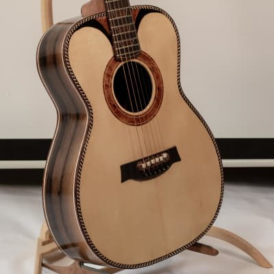 Unique Portland Guitar OM Brazilian Rosewood with Adirondack Spruce Top and Snakewood Inlay + Pickup for sale
