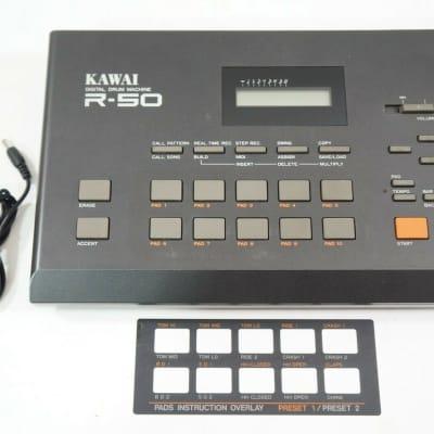 KAWAI R-50 R50 Digital Electronic Drum Machine Vintage w/ 100-240V PSU