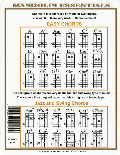Mandolin Chord Chart For G D A E Music Go Round St Paul Reverb
