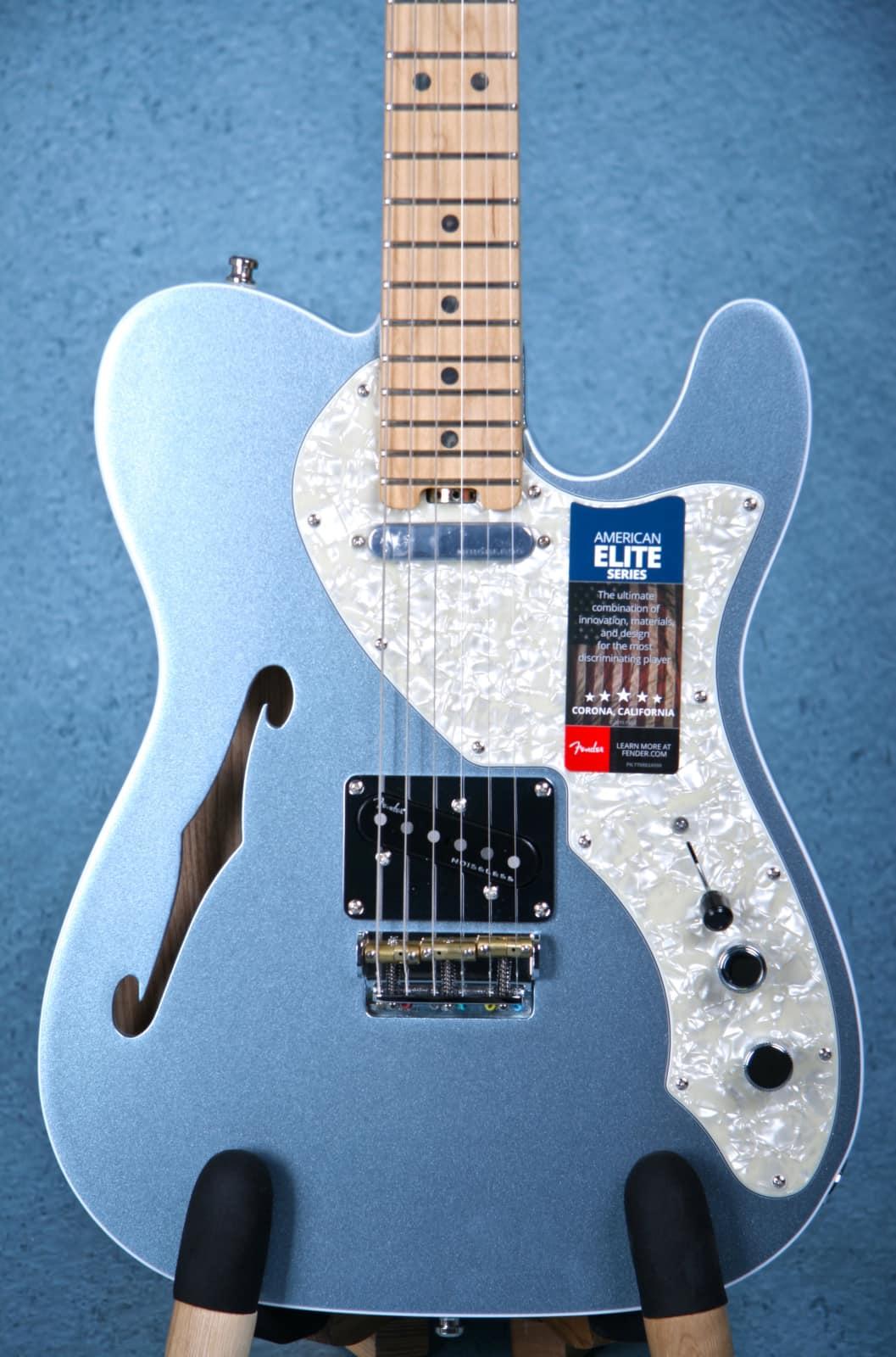 Fender Elite Series Thinline Telecaster Mystic Ice Blue - | Reverb