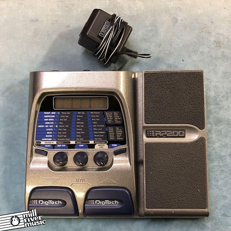 DigiTech RP200 Modeling Guitar Multi-Effects Processor Pedal w/ Power Supply