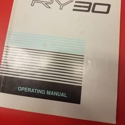 Yamaha RY30 Rhythm Programmer Original Manual
