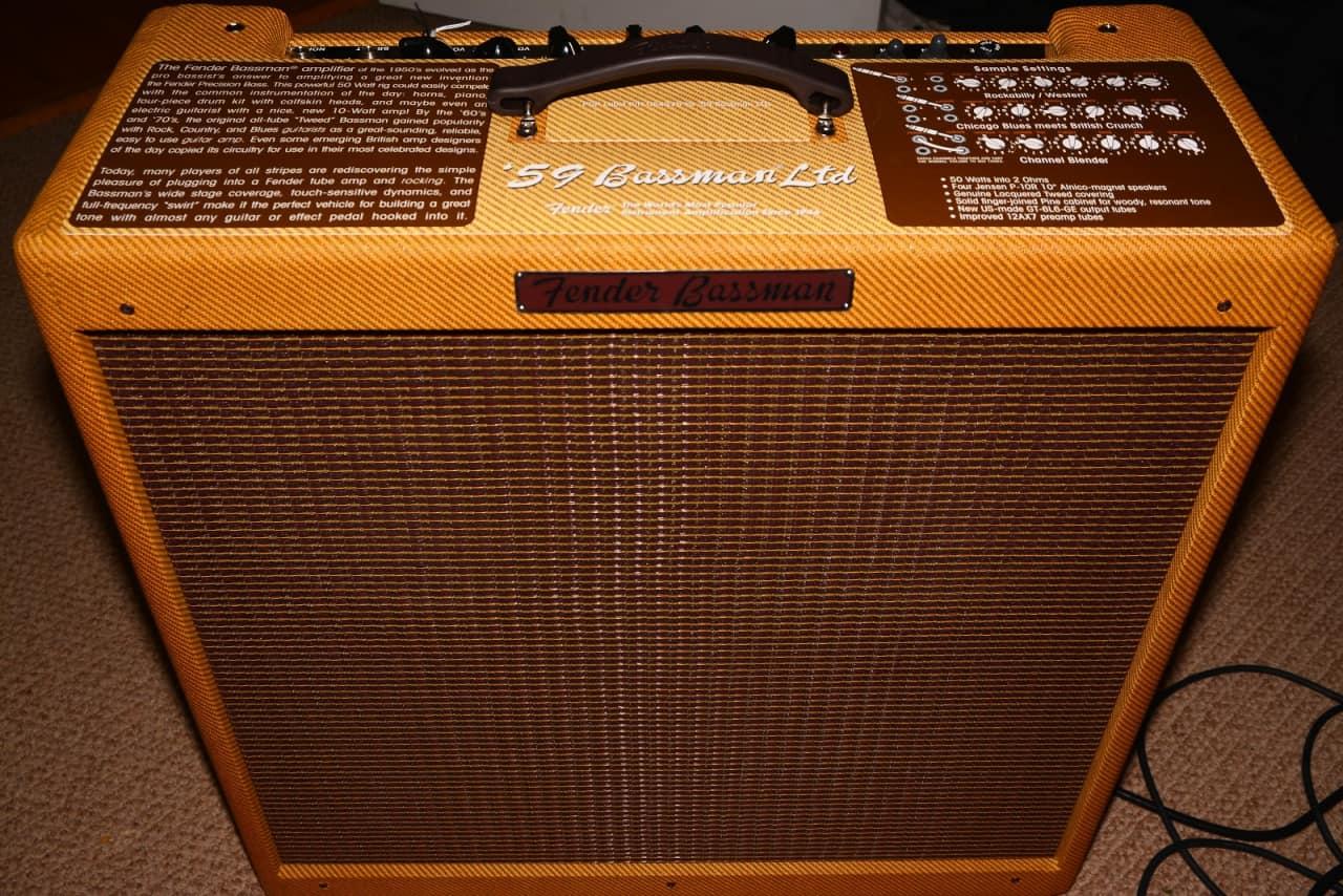 fender bassman 39 59 vintage reissue 2014 tweed amber lacquer reverb. Black Bedroom Furniture Sets. Home Design Ideas