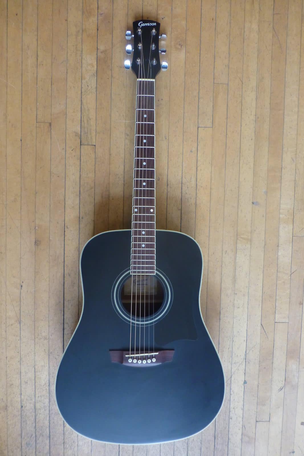 garrison ag 200 bk matte black acoustic guitar reverb. Black Bedroom Furniture Sets. Home Design Ideas