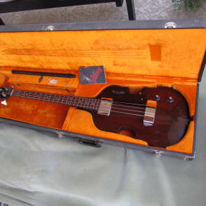 1969-1970 Gibson EB-1 Electric Bass W/Original Case & Telescoping End Pin Clean Brown Mahogany for sale