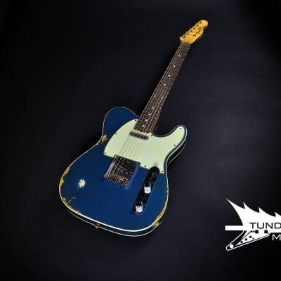 Fender Custom Shop Custom '60 Telecaster Custom Super Heavy Relic - Aged Lake Placid Blue for sale