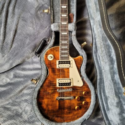 Agile Dauntless Les Paul Tiger Eye with upgrade for sale