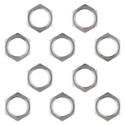 Metric M7 Potentiometer Knob Replacement Nut Set For Pedal Guitar Amp Pots - 25 Pack - Made In Japan
