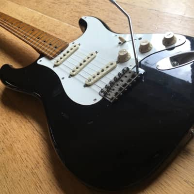 Fender Stratocaster 1957 Reissue FujiGen MIJ A-Serial 1985 Piano Black for sale