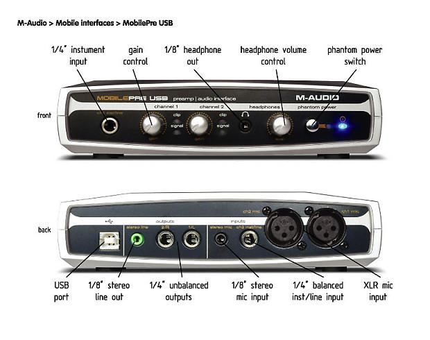 M-Audio Mobile Pre Audio Interface Mac