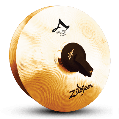 "18"" A ZILDJIAN STADIUM SERIES MEDIUM PAIR Cymbal A0483"