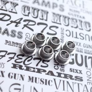 SGM Vintage Guitar Tuner Conversion Bushings, Adapter Ferrules 10mm Nickel