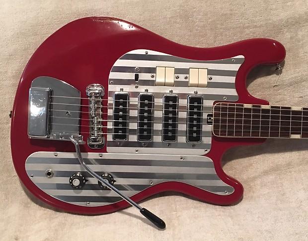 Teisco Del Rey Silvertone Wg 4l 1960s Cherry Red 4 Reverb