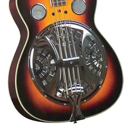 Acoustic Resonator Bass Guitar - Regal Sunburst Studio Series for sale