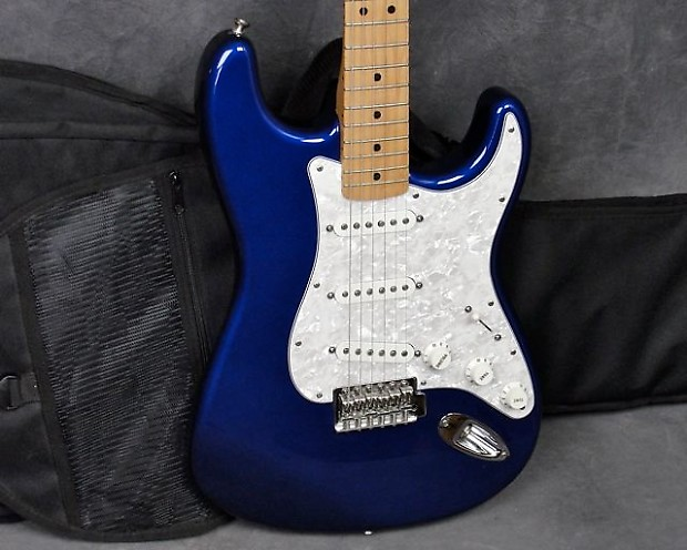 1998 Fender Stratocaster, MIM, Violet (Blue/Purple) Strat with Gig Bag