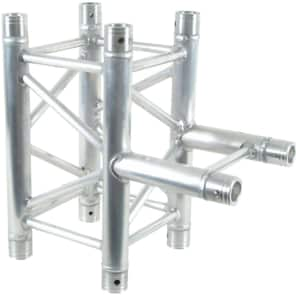 """Global Truss SQ-4129IB F34 12"""" Square Truss 1.64'/0.5m 3-Way Square to I-Beam T-Junction"""