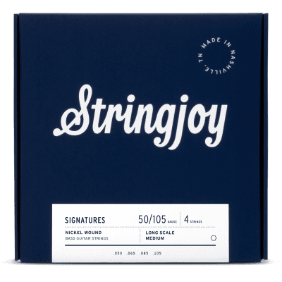 Stringjoy Medium Gauge (50-105) 4 String Nickel Wound Bass Guitar Strings