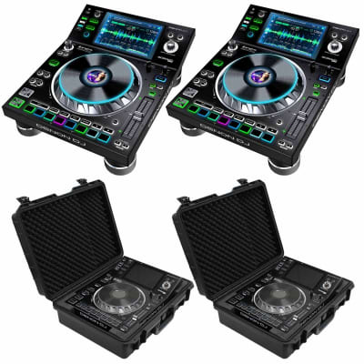 (2) Denon DJ SC5000 Prime Professional DJ Media Players Packaged with Odyssey Carry Cases