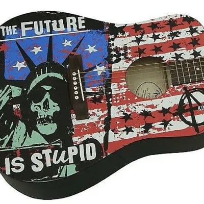 Fender Acoustic Punk Age by Kozik The Future is Stupid Open Box New for sale