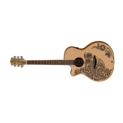 Luna HEN02SPRLH Henna Oasis Left Hand Spruce C/E Acoustic Guitar for sale