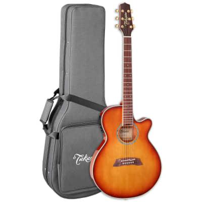 Takamine Thinline TSP138CTB Acoustic-Electric Guitar - Tea Burst for sale
