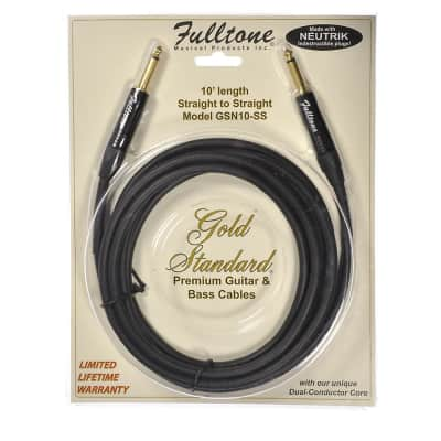 Fulltone GS 10' Straight/Straight Instrument Cable