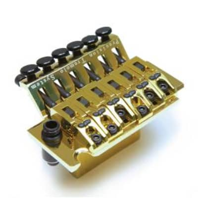 Graph Tech Ghost LB-63 Floyd Rose Tremolo Bridge w/Piezo Pickups GOLD PN-0080-G0 for sale