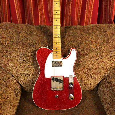 Crook tele with G bender Sparkle red for sale