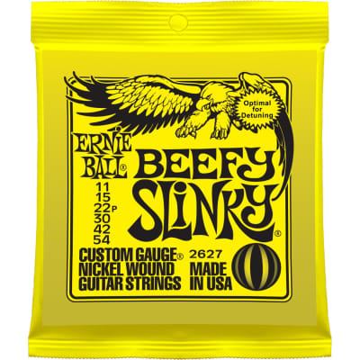 Ernie Ball Beefy Slinky Nickel Wound 11-54 Electric Guitar Strings P02627
