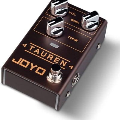 JOYO R-01 Tauren Overdrive guitar effect pedal With wide range of High-Gain 2021 Brown