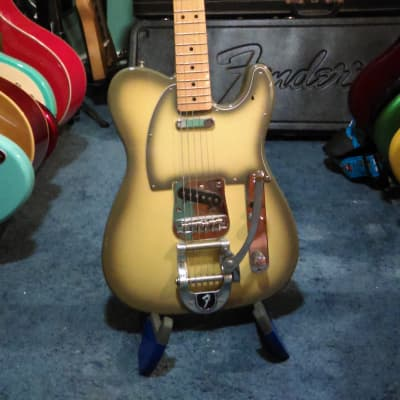 Video 2002 Fender Telecaster Antigua Lindy Fralin Pickups and Bigsby Vibrato Crafted in Japan