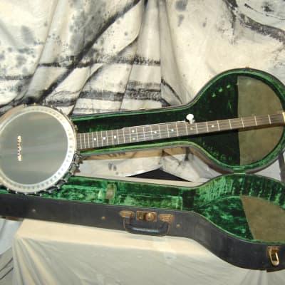 Vintage 1963 Pre-Baldwin Ode Long-Neck Folk Open-Back 5-String Banjo with Hardshell Case Pete Seeger for sale