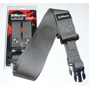 """DiMarzio DD2200GY 2"""" Nylon ClipLock Strap"""