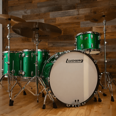 """Ludwig Classic Maple Zep Outfit 10x14 / 16x16 / 16x18 / 14x26"""" Drum Set"""