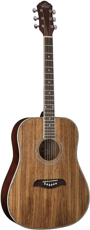 White Oscar Schmidt OG2CE-WH Dreadnought Cutaway Acoustic Electric Guitar