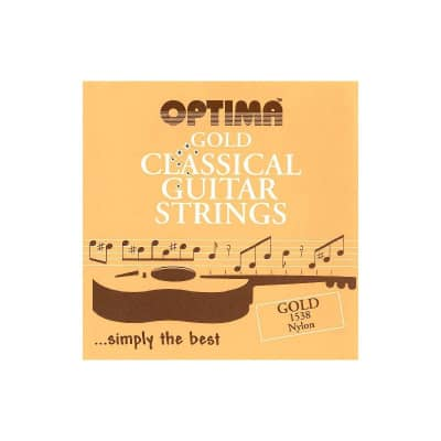 Optima 1538 Gold Nylon Classical Guitar Strings- 3rd Wound