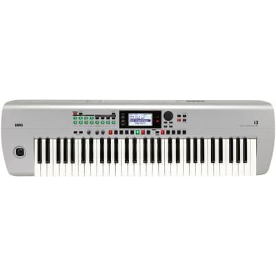 Korg i3 61-Key Music Workstation Keyboard - Silver