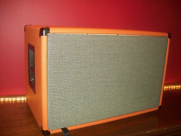 orange 2x12 guitar amp speaker cab cabinet wheat grill reverb. Black Bedroom Furniture Sets. Home Design Ideas