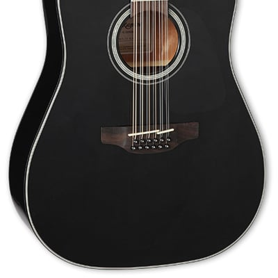Takamine GD30CE-12 Dreadnought Cutaway 12-String Acoustic Electric Guitar - Black for sale